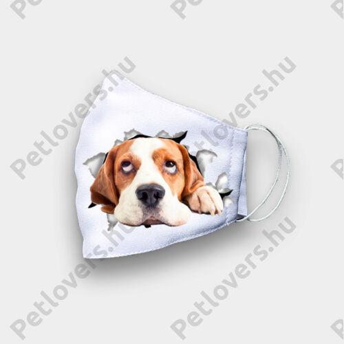 Beagle mintás szájmaszk 3D