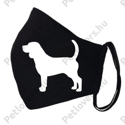 Beagle fekete szájmaszk