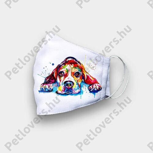 Beagle mintás szájmaszk - paint