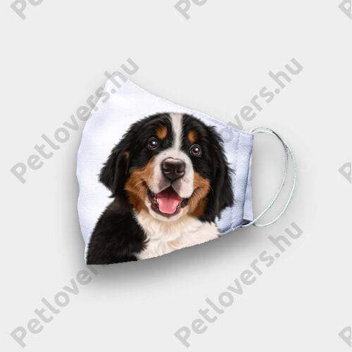 Berni pásztor mintás szájmaszk - puppy
