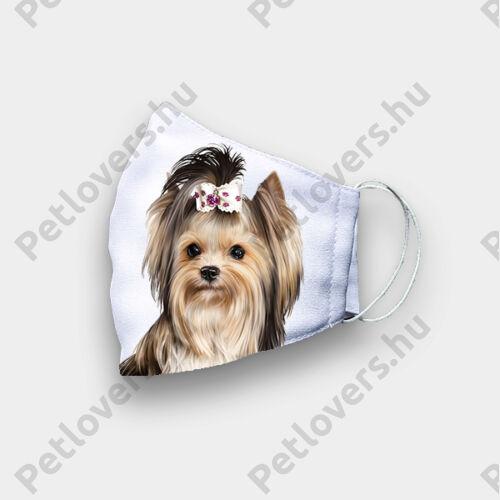 Biewer Yorkshire Terrier mintás szájmaszk