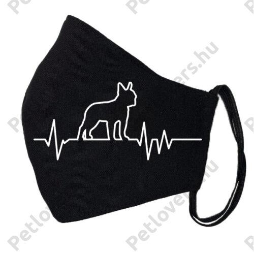 Boston Terrier fekete szájmaszk - ekg