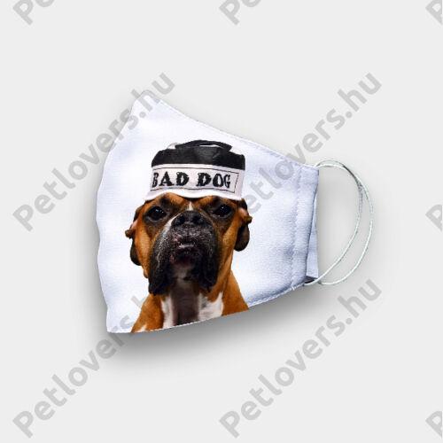 Boxer mintás szájmaszk - bad dog
