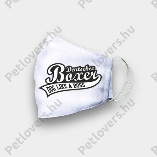 Boxer mintás fehér szájmaszk - boss