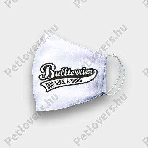 Bullterrier mintás szájmaszk - boss