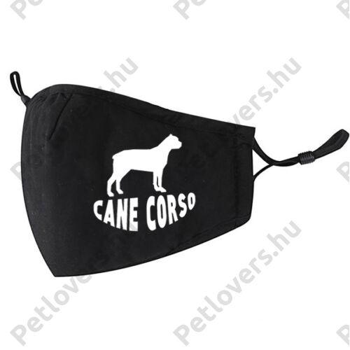 Cane Corso mintás fekete szájmaszk