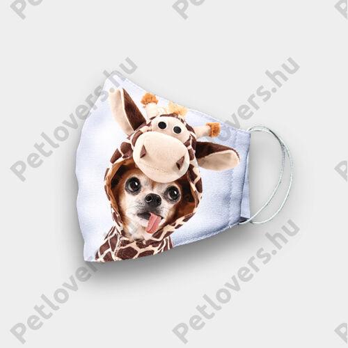 Chihuahua mintás szájmaszk - zsiráf