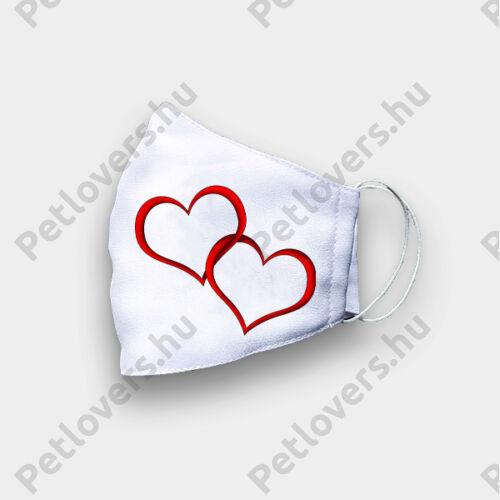 Esküvőre szájmaszk -szív