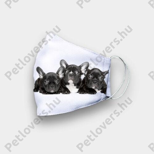Francia Bulldog mintás szájmaszk 3