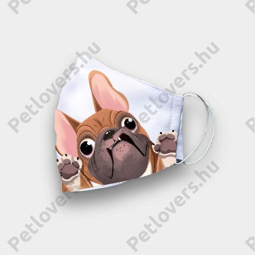 Francia Bulldog mintás szájmaszk - funny