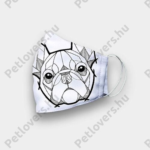 Francia Bulldog mintás szájmaszk