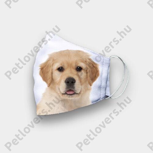 Golden retriever mintás szájmaszk - puppy