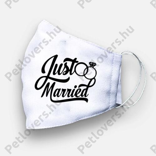 Esküvőre szájmaszk - gyűrű