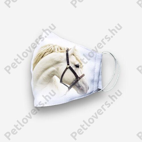 Lovas szájmaszk - fehér