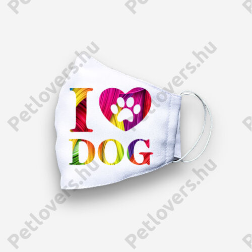 Love my Dog mintás maszk - color