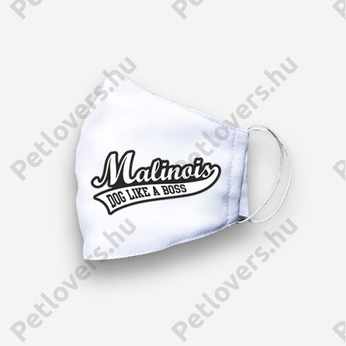 Malinois mintás szájmaszk - boss