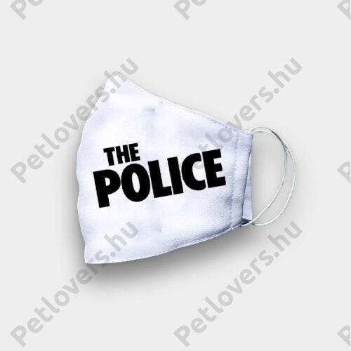 The police mintás szájmaszk