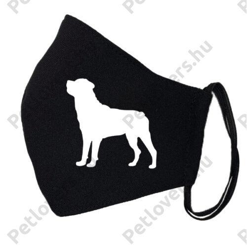 Rottweiler mintás fekete szájmaszk