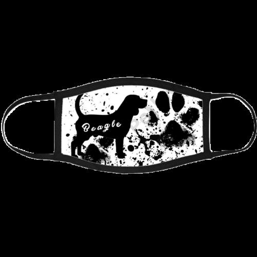 Beagle mintás szájmaszk fekete peremmel