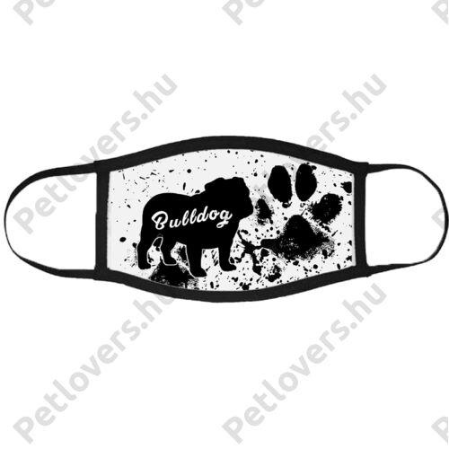 Angol Bulldog mintás szájmaszk fekete peremmel