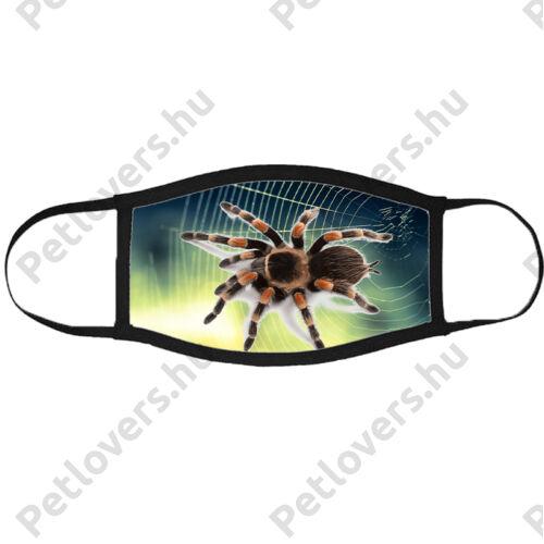 Pók mintás szájmaszk fekete peremmel