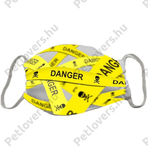 Danger szalag mintás szájmaszk