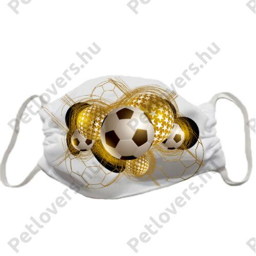 Foci labda mintás szájmaszk