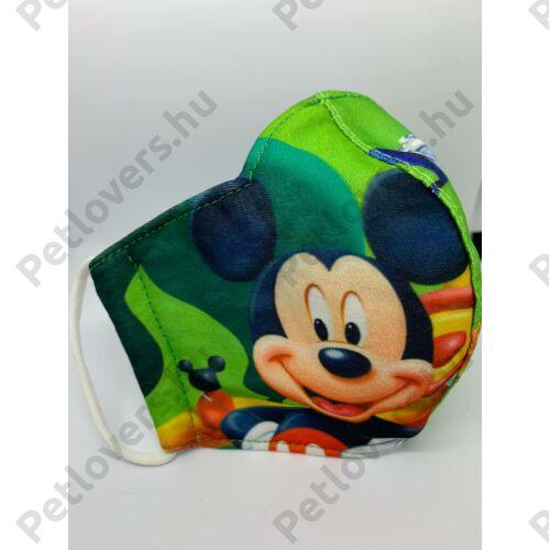 Mickey gyerek szájmaszk - zöld