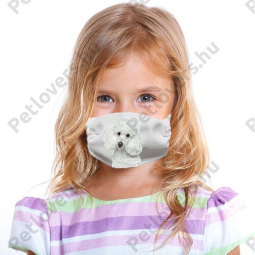 Uszkár gyerek szájmaszk