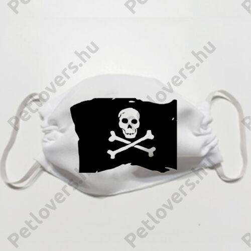 Kalóz  mintás szájmaszk - zászló