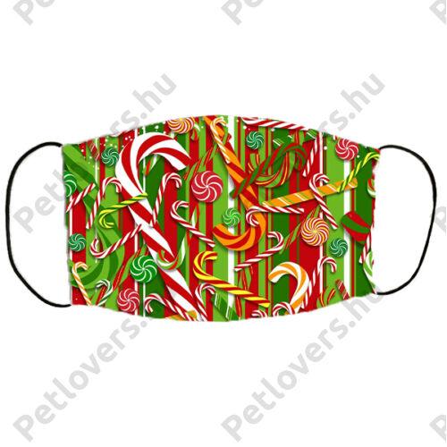 Karácsonyos szájmaszk - nyalókás
