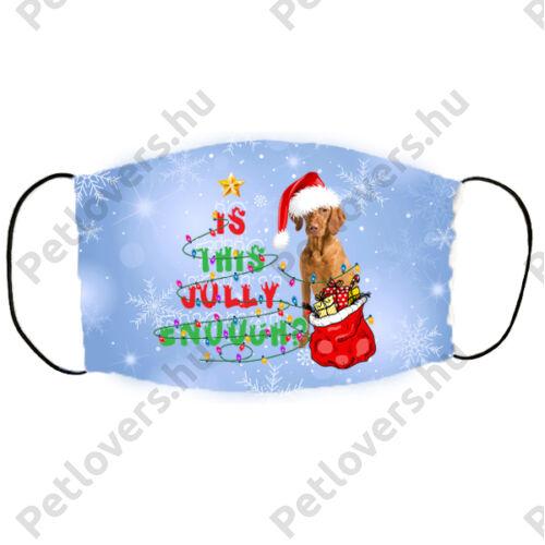 Vizsla karácsonyi szájmaszk - jolly