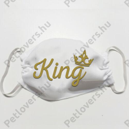 Fehér szájmaszk - king