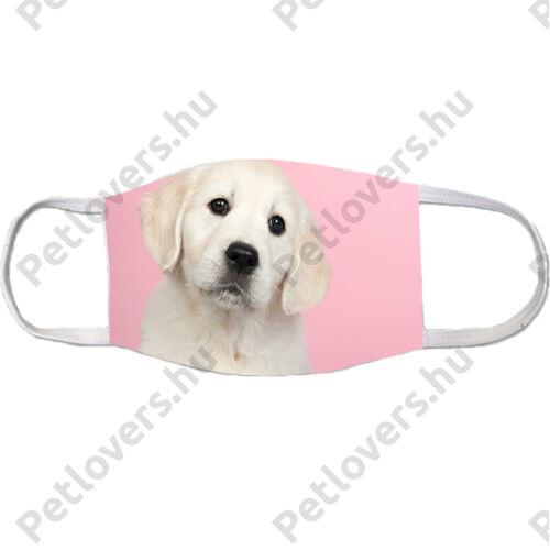 Labrador mintás szájmaszk - puppy