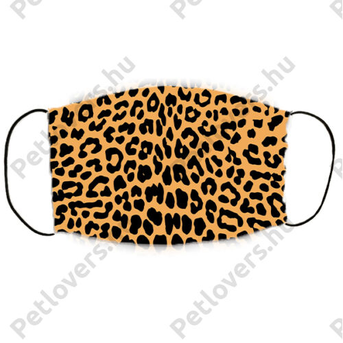 Leopard mintás szájmaszk - barna