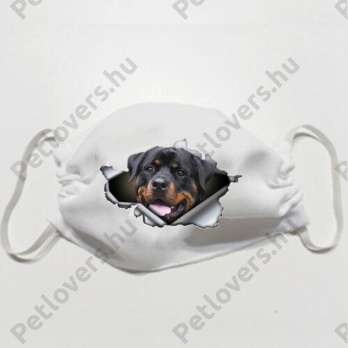 Rottweiler mintás szájmaszk - 3D