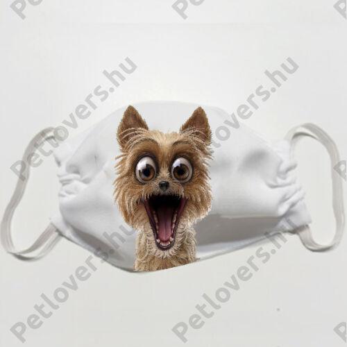 Yorkshire Terrier mintás szájmaszk - crazy
