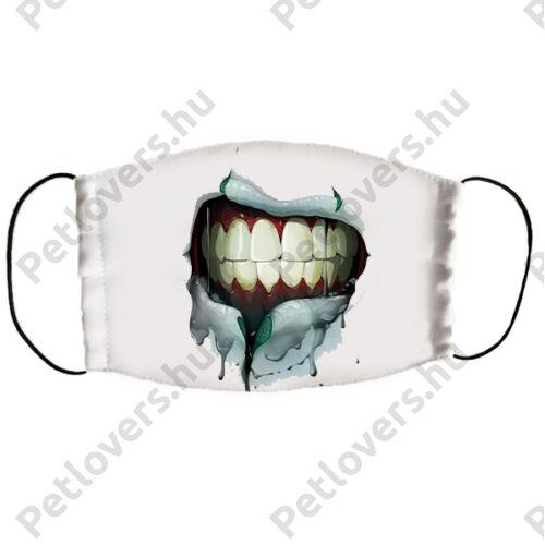 Zombi száj mintás szájmaszk