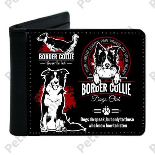 Border Collie mintás fekete műbőr pénztárca - dogs club