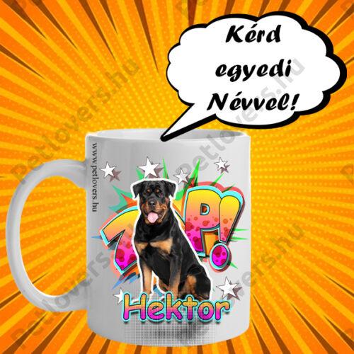 Rottweiler bögre - comic