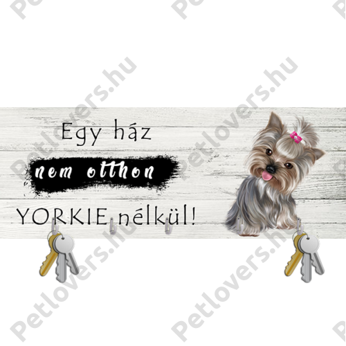 Yorkie fali kulcstartó 3