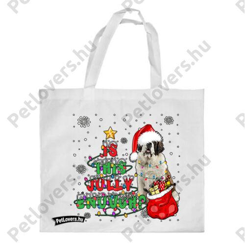 Bernáthegyi mintás karácsonyi bevásárló táska