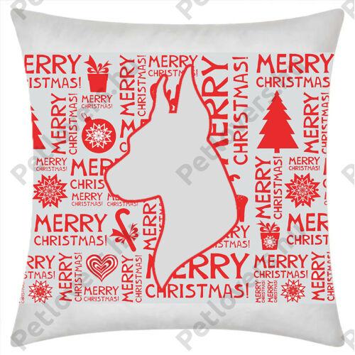 Dobermann mintás karácsonyi párna
