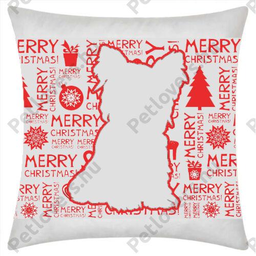 Yorkie mintás karácsonyi párna