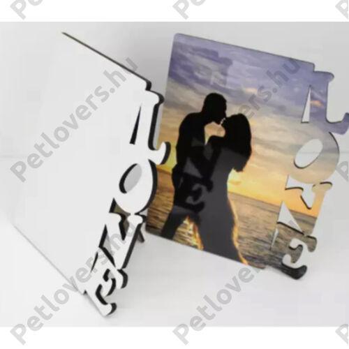 Egyedi képes MDF fa asztali kép - LOVE