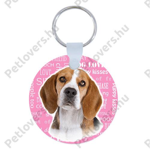 Beagle kulcstartó - rózsaszín