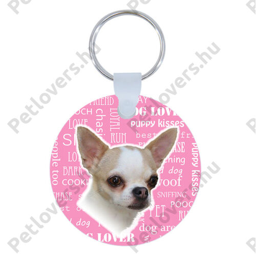 Chihuahua kulcstartó - rózsaszín
