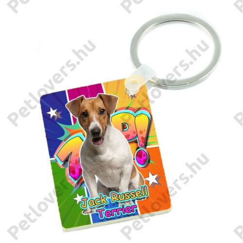Jack Russel Terrier kulcstartó - comic