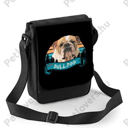 Angol Bulldog mintás oldaltáska - color