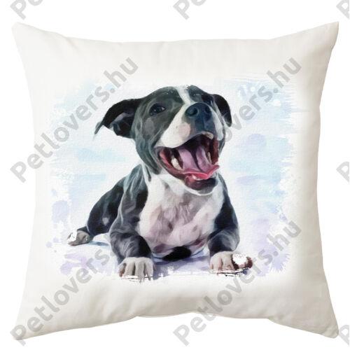 Amstaff mintás párna - paint puppy
